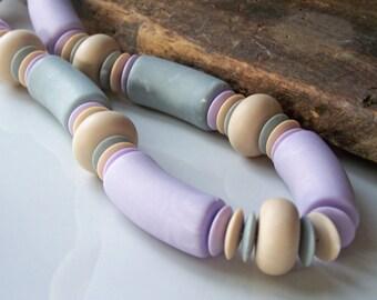 REDUCED Chunky Vintage Avon Necklace, Avon Necklace, Chunky Necklace, Macaroni Style Beads, Purple, Etsy Vintage, Vintage, Etsy,