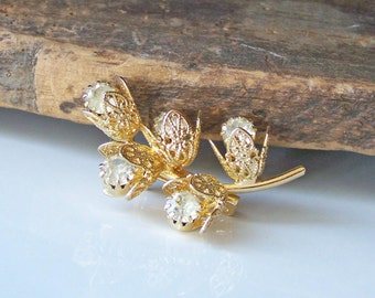 1/2 OFF REDUCED Rhinestone Brooch, Gold Leaf Brooch, Rhinestone Pin,  Jewelry on Etsy, Costume Jewelry, Etsy, Etsy Jewelry