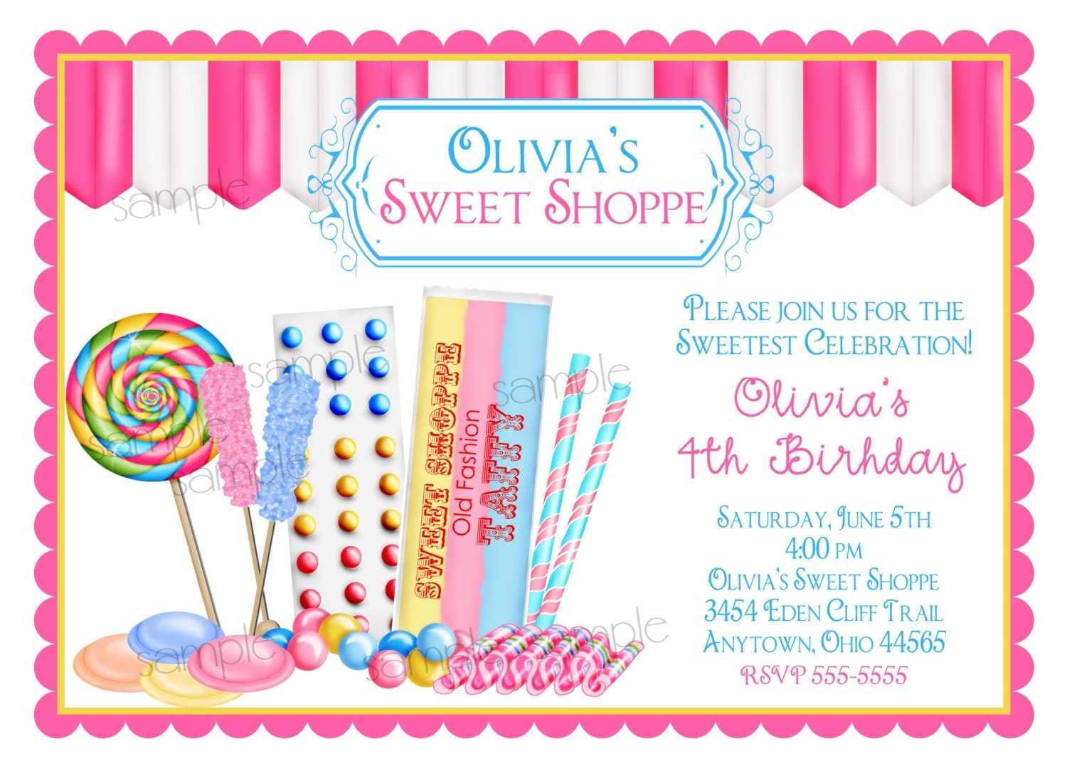 Candyland Party Invitation with perfect invitations sample