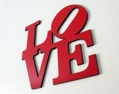 Red LOVE Square Sign - Large