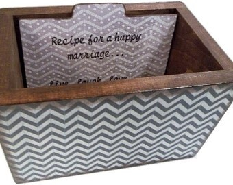 Wedding Guest Book Box, Recipe Box, Wedding Card Box, Holds 5x7 Cards, Gift for Her, Bridal Shower Gift, Wedding Recipe Box, MADE TO ORDER