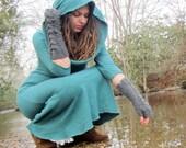 ORGANIC Super Cowl Long Fleece Dress (Hemp/Organic Cotton Fleece) - organic dress