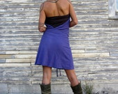 Organic Apron Wrap Short Dress (Light hemp and organic cotton Knit) - organic HEMP Dress