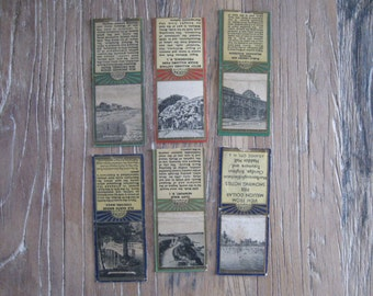 6 Souvenir Series Match Book Covers