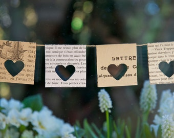 Book themed baby shower, baby shower decorations, Paper Garland, Wedding garland, window decor, home decoration, rustic wedding, French