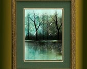 Fantasy Landscape Trees and Dragonflies Art Print -- Neverwinter -- Limited Edition of 50 --12 x 16