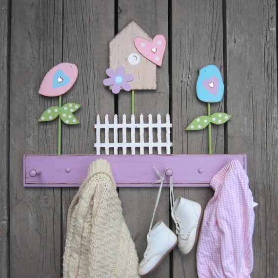 Kids Coat Rack BROOKLYN - Original Hand-Painted Wood