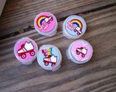 RESERVED 10pk Girls Teens Birthday Party Favor Lip Gloss or Body Glitter Pods in Roller Skate Roller Skating