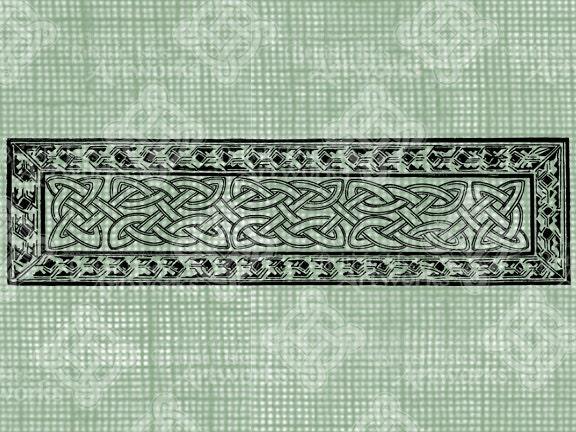 Digital Download Celtic Knot Rectangle digi stamp digis