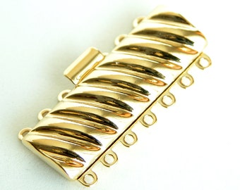 CLSP58GP Elegant Elements Gold Plated Nickel Free 7 Strand Clasp