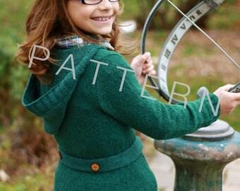 Hearth Sweater for Girls (pdf knitting pattern)