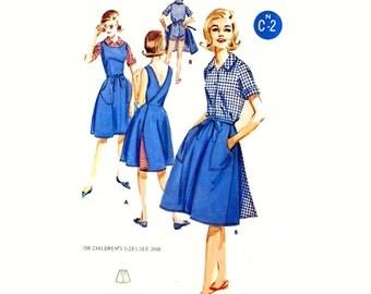 60s Wrap Skirt shorts blouse jumper vintage sewing pattern Butterick 2745 Bust 32