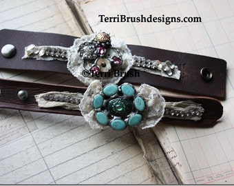 online ecourse leather soldered flower cuffs  open 24 hrs a day tutorial