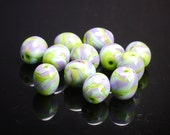 RESERVED for cruelgirl55 Lampwork Bead Set - 12 Spring Eggs - Handmade by Andrew Sinclair-Day SRA