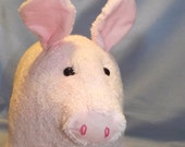 Pink Pig Blossom Stuffed Animal Pattern to Sew