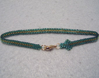 Beaded Snake Bracelet - Green Tree Python