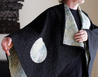 Kimono Quilt - choose your fabric - secret moon in grays or pink - made to order