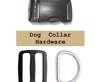 """4 SETS - 1 1/2"""" - Large Dog Collar Kits, 1 1/2 inch, 38mm, with WIDE Mouth Slide"""