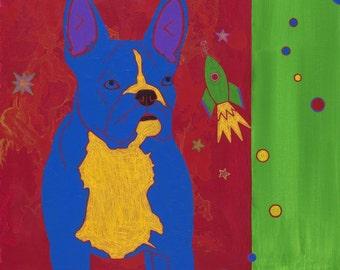 French Bulldog Print - Frenchie Art - Dog Pop Art - by angela bond