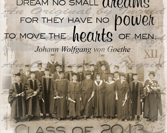 Graduation Class of 2017 Digital Collage Greeting Card (Suitable for Framing)