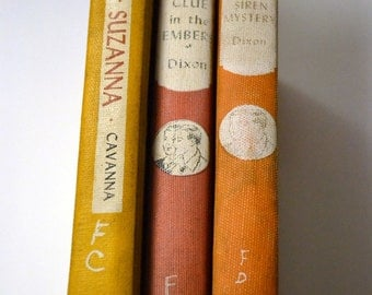Vintage Children's Books Room Decor Hardy Books and Spurs for Suzanna