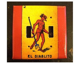 Loteria switch plate cover Mexico retro vintage pop culture folk art double light switch