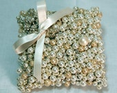 Bridal Pillow with Pearls and Rhinestone Ornament