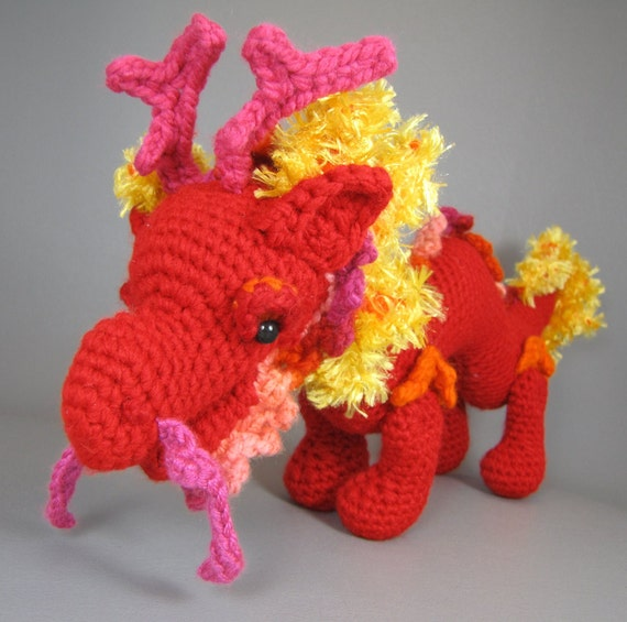 Chinese Dragon Amigurumi Pattern : Asian dragon pdf amigurumi crochet pattern from edafedd