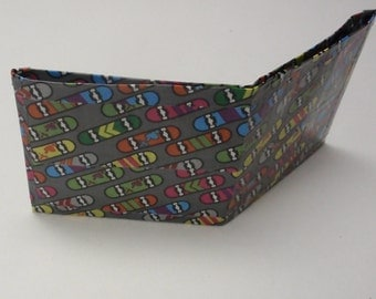 Skateboard wallet - duck duct tape