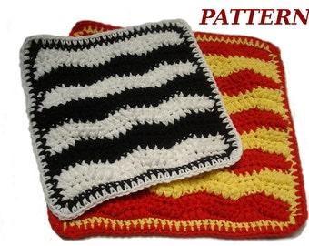 PDF Crochet dishcloth pattern, Stepping Stones Dishcloth, DIY crochet dishcloth, Crochet Wascloth