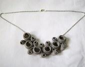 Antique Spectacle Zipper Necklace