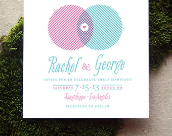 Nerdy Venn Diagram Wedding Invitation