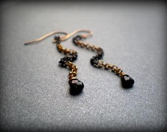 Long Sexy Earrings - Gala Earrings - Chain Earrings - New Year's Eve Party - Little Black Dress - Festive Wear -Earrings For Formal Gown