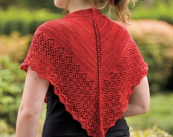 Adjustable Knit Lace Shawl Pattern
