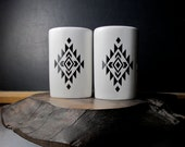 Aztec Salt and Pepper Shakers