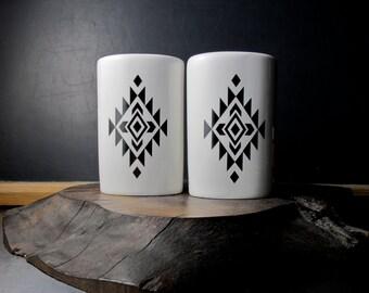 Aztec Salt and Pepper Shakers