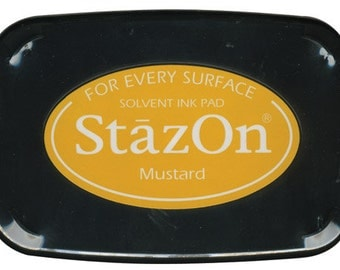 Mustard StazOn Permanent Ink Pad --9320