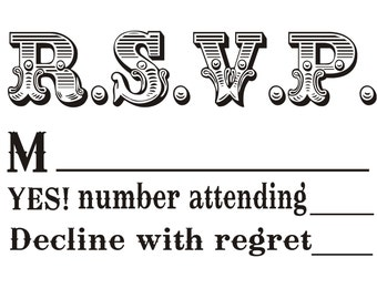 custom RSVP rubber stamp to create response cards