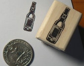 Beer bottle rubber stamp miniature P24