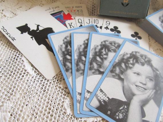 Vintage 1935 Shirley Temple Deck Of Bridge Cards.....pf