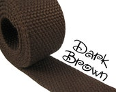"Cotton Webbing - Dark Brown - 1.25"" Medium Heavy Weight for Key Fobs, Purse Straps, Belting - SEE COUPON"