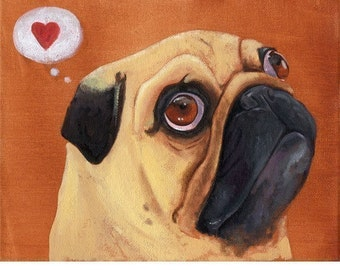 Pug Heart print