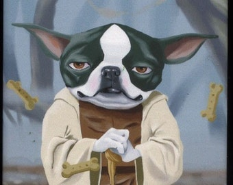Yoda Terrier - Boston Terrier magnet