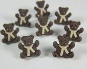 Brown Teddy Bear Novelty Buttons