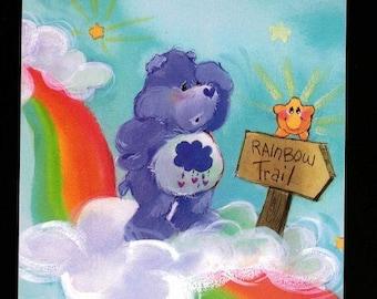 "Care Bears Grumpy Bear  with Rainbow Large 5"" Sticker"