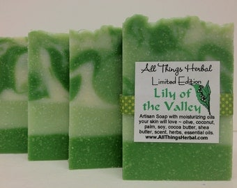 Lily of the Valley Soap - Handmade Natural Herbal Soap, Perfect Mother's Day Gift