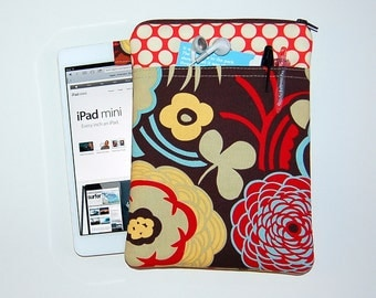 Mocca and Full Moon Cherry - iPad Mini / Kindle / Nook / Nexus 7 Padded Cover with Front Pocket