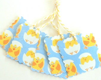 Hatching Chicks Easter Gift Tags - Set of 5 Tags