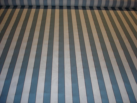 blue and white striped upholstery fabric from fabricfanfare on etsy studio. Black Bedroom Furniture Sets. Home Design Ideas