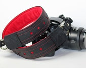 Leather Camera Strap - PREMIER Edition Camera Strap -The Scarlet 30 inch